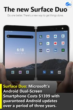 Microsoft has announced the launch date and price of its first dual-screen smartphone based on the Android operating system — Surface Duo.