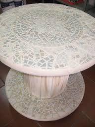 Resultado de imagen para modelos de mesas feita com mosaicos
