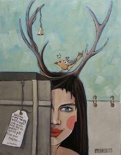Showroom Art Gallery Exhibition in Pretoria 16 Nov to 15 Dec 2016 Dec 2016, Pretoria, Antlers, Showroom, Deer, Whimsical, Art Gallery, Symbols, Portrait