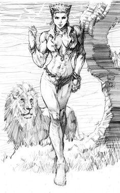 Vixen - Art by Philip Tan Fantasy Kunst, Dark Fantasy Art, Fantasy Artwork, Comic Book Artists, Comic Artist, Comic Books Art, Comic Kunst, Cartoon Kunst, Character Art