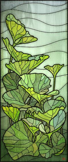 Pumpkin leaves stained glass - photo belongs to Rusty http://www.flickr.com/photos/68935214@N00/with/1375976582/