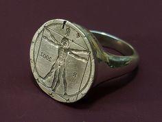 Vitruvian Man Ring (2009, IT) Ring 150., via Flickr.  I love this one!jk