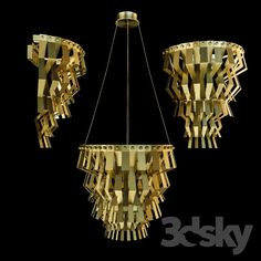 Marioni Veronica chandelier and wall lamp