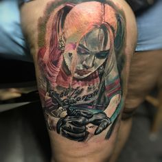 No gané pero ahí quedó!!! #expotatuajesaltillo2018 #victoriainktattoostudio #ontheroad #harleyquinn #harleyquinntattoo @eikondevice @fkirons @eternalink @worldfamousink @intenzetattooink @fusion_ink @inkeeze @mundoskink @bestbodyink @best_ink_tattoos_insta @best_tattoos_world @best_ink