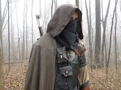 Linen Hooded Cloaks, Renaissance Medieval Cape, Viking, Ranger For Costume Cosplay - CHOOSE YOUR COLOR