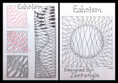 "Echoism  |  Zentangle Tangle unpublished  |  ""It's a String Thing"" #75 Tiles"