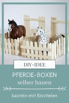 Crafts with ice cream sticks: build horse stable- DIY: build horse box yourself. - Crafts with ice cream sticks: build horse stable- DIY: build horse box yourself. When tinkering wit - Craft Stick Crafts, Diy And Crafts, Diy For Kids, Crafts For Kids, Horse Crafts, Horse Stables, Diy Décoration, Wine Bottle Crafts, Diy Box