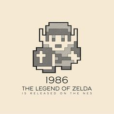 This Day In History - Feb 21 - 1986 - The Legend of Zelda is released on the Nintendo Entertainment System.  ---  #thisdayinhistory #todayinhistory #tdih #history #onthisday #minimal #minimalism #simple #minimalist #texture #adobe #illustration #vector #365project #zelda #link #nintendo #nes #nintendoentertainmentsystem #videogame #triforce #1986 #facts #fact