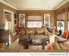 15 Relaxing Brown and Tan Living Room Designs | Home Design Lover