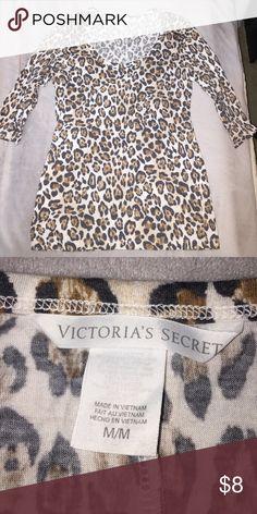 Victoria's Secret leopard print top VS medium half sleeve top Victoria's Secret Tops