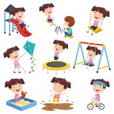 Vector Illustration Of Cartoon Girl Doing Various Activities Cartoon Clip, Girl Cartoon, Art Drawings For Kids, Drawing For Kids, Sequencing Pictures, Kids Background, Age Appropriate Chores, Elementary Art, Kids Cards