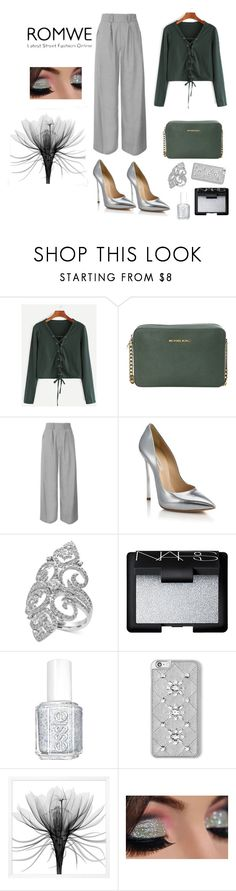 """""""Untitled #17"""" by femina-mode ❤ liked on Polyvore featuring MICHAEL Michael Kors, Topshop, Casadei, Effy Jewelry, NARS Cosmetics and Essie"""