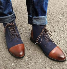 Coloured Men's Lace Up Pointed Boots – Domenstyle High Ankle Boots, Ankle Highs, Brown Boots, Black Boots, Thick Heels, Shoe Size Chart, Custom Shoes, Types Of Fashion Styles, Latest Fashion Clothes