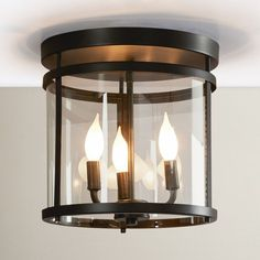 You'll love the Galen 3 Light Semi Flush Mount at Wayfair - Great Deals on all Lighting  products with Free Shipping on most stuff, even the big stuff. #SemiFlushMountCeilingLights