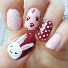 Adorable Easter Nail Art Designs You Must Try Easter nails; Egg And Bunny Nail Art Designs; Nail Art Designs, Easter Nail Designs, Easter Nail Art, Nail Designs Spring, Cute Pink Nails, Cute Nail Art, Nail Pink, Nail Nail, Pretty Nails