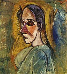 """Pablo Picasso - """"Buste de femme (étude pour Les Demoiselles d`Avinye)"""". 1907 г"""