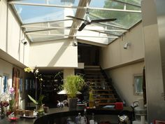 interior glass roof houseboat france