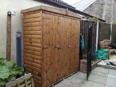 Garden Tool Store, Log Lap, Treated Rustic Brown made to order by Davies Timber Wales