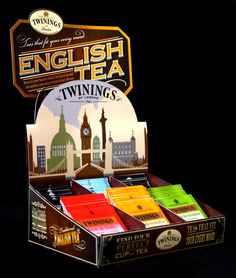 Twinings Point of Purchase Display by Brian Schade, via Behance