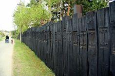 Railroad Tie Fence