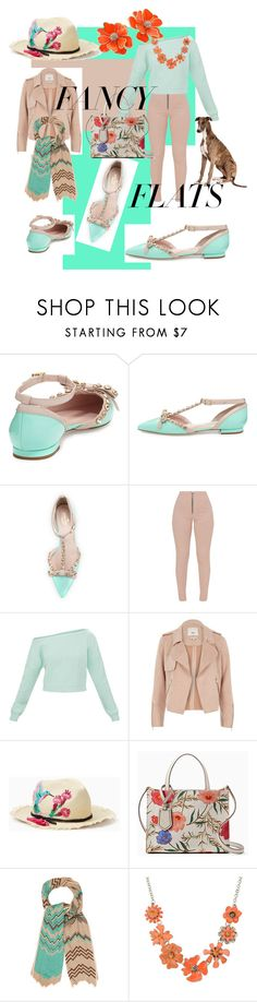 """Man's best friend and my flats"" by elvacruz ❤ liked on Polyvore featuring Kate Spade, River Island, Missoni, Shourouk, Kenneth Jay Lane and chicflats"