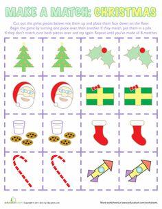 Worksheets: Christmas Memory Game