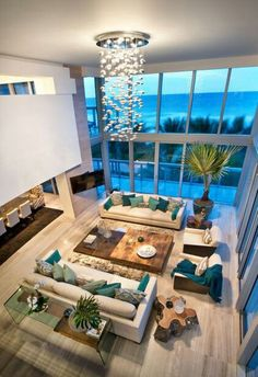 The living room serves as a place for leisure, relaxation and friends. Stay for a selection of the picturesque, high-end ideas for modern living room design curated by the keen eyes of Boca do Lobo in a variety of colors, layouts, formats and arrangements Dream Home Design, Modern House Design, Home Interior Design, Interior Modern, Interior Paint, Modern Living Room Designs, Interior Decorating, Pastel Interior, Interior Sketch