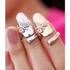 d8855e3d59234 Fashion Cherry Shape Inlaid Crystal Nail Rings for Girls--Cheap Wholesale  Steampunk Nails