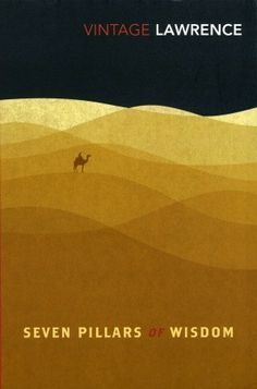book cover design, The Seven Pillars of Wisdom by T.E. Lawrence