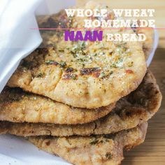 Whole-wheat Home-made Naan Bread