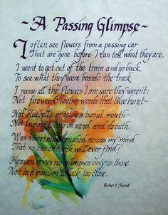 Robert Frost poem                                                                                                                                                      More