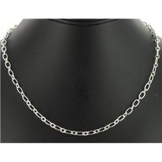 """18"""" Silver Necklace sku# 203141 Brand: the Jewelry Shoppe Collection: Hypo-Allergenic Collection Color: Silver Finish Length: 18 $1.99"""