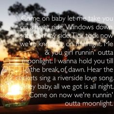 Runnin Outta Moonlight - Randy Housee.g. This song just puts me in a good mood!