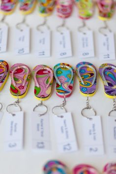 Flip flop place cards that I made for beach themed bar mitzvah