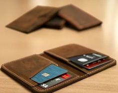 Personnalisé de portefeuille, porte monnaie en cuir, portefeuille, poche frontale Design mince, minimaliste des cartes de crédit portefeuille en cuir, portefeuilles en cuir pour homme