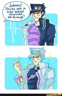 WHY IS JOTARO'S PART 4 OUTFIT SOMEHOW WORSE THAN HIS PART 3 OUTFIT