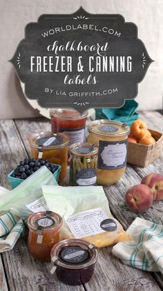 Printable Chalkboard Style Freezer & Canning Jar Lables