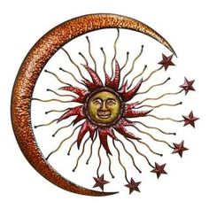 Shop for Metal Sun Moon Wall Decor. Get free shipping at Overstock.com - Your Online Home Decor Outlet Store! Get 5% in rewards with Club O! - 15903490