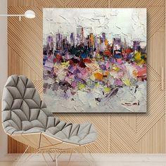 art.work Wandbild 100x100cm Erdkugel Handgemalt Leinwand GERAHMT Acryl Gemälde