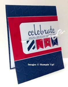 Super cute card featuring Stampin' Up! Fabulous Four stamp set!