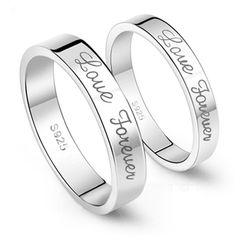 """Kardy Valentine's Day Gift Fashion Sterling Silver 925 Halo Matching Wedding Engagement Promise Couple Ring Set Gift for Lover. Metal:Solid Sterling Silver 925. Excellent Quality and Workmanship. Art of Engraving Characters:""""Love Forever"""". The Women's Ring and the Men's Ring are Sold Separately.Please Select the Size You Want and Make Order Separately. Best Gift for Birthday,Promise,Engagement,Wedding,Annivesary and Other Festivals.Come with Elegant Ring Box."""