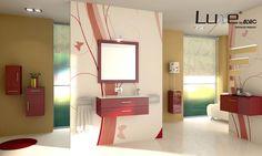 Muebles de baño en alto brillo Luxe by Alvic.