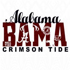 Alabama Crimson Tide Alabama svgcrimson svgroll tide by Dxfstore