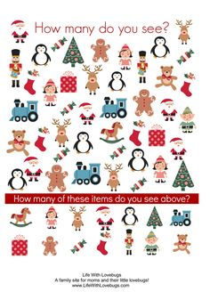 Christmas Activity Printable Sheets: Picture Finder, Word Search and ...