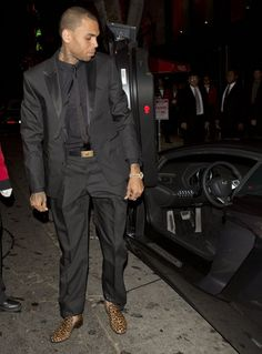 Has Chris Brown pulled this outfit off?  #debate #style #decision