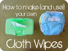 When I first thought of using cloth wipes, I had never heard of it before. Turns out, at least a gagillion other people thought of it firs...