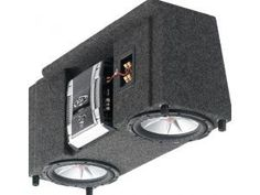 """R//T Dual 10/"""" Sealed Sub woofer Enclosure 3//4/"""" MDF Universal Sub Box 770 10 USA"""