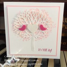 Lillybet's Papers: Thoughtful Branches wedding card