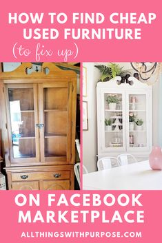 New Great Tips and DIY ideas for Furniture Makeover Cheap Used Furniture, Cheap Furniture Makeover, Diy Furniture Renovation, Eco Furniture, Refurbished Furniture, Repurposed Furniture, Kitchen Furniture, Painted Furniture, Arranging Furniture