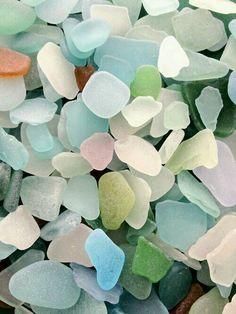 Glassteine aus See oder Meer